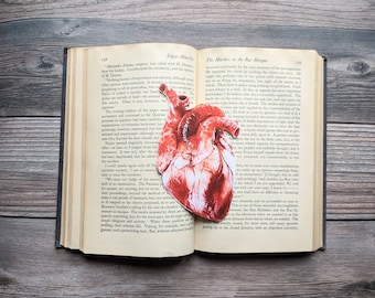 Anatomical Heart Bookmark Medical Goth Gothic Halloween Horror Creepy Oddities