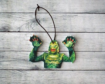 Creature From the Black Lagoon Inspired Ornament Horror Ornament Scary Ornament Monster Ornament Gillman Ornament