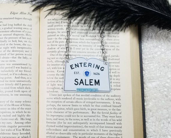 Entering Salem Sign Inspired Necklace Salem MA Necklace Horror Halloween  Goth Gothic Witch Durable Wearable Art Unique Gift