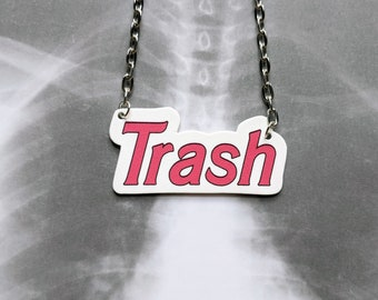 Trash Barbie Girl Doll Necklace Gothic Horror Unusual Odd Necklace Durable Wearable Art Gift