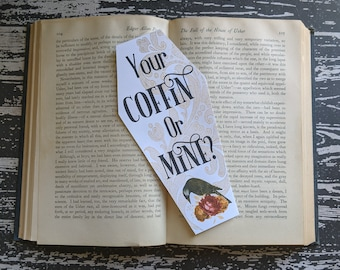 Your Coffin Or Mine? Blue In The Face Alkaline Trio Alk3 Inspired Bookmark Goth Gothic Halloween Horror Creepy Oddities