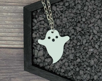 Ghost Necklace Ghoul Necklace Horror Necklace Creepy Necklace Gothic Necklace Halloween Necklace Durable Wearable Art