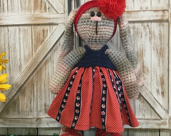 Handmade crochet   Bunny doll 19 inches tall
