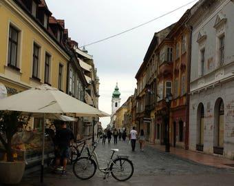 Gyor, Hungary Walking Street