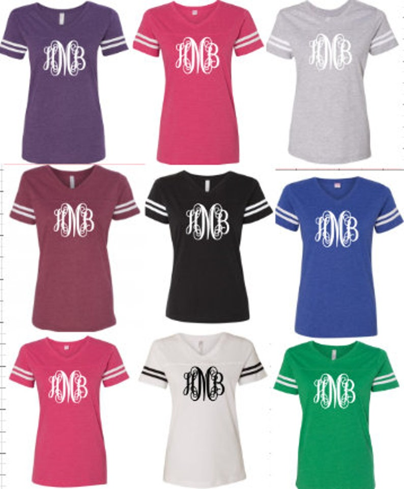 9f898ab1c7d84 Scroll Monogram Initial Jersey Shirt Vintage Football Jersey You Choose  Color