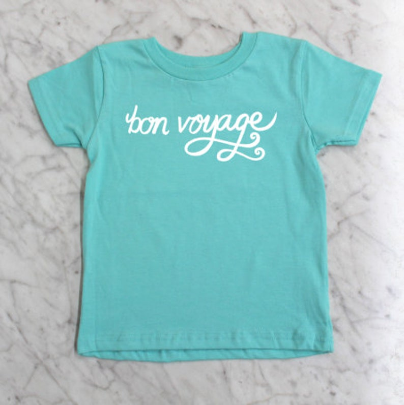 Bon Voyage Toddler Tee Funny Vacation TShirt Bon Voyage Graphic Tee Multiple Colors Available