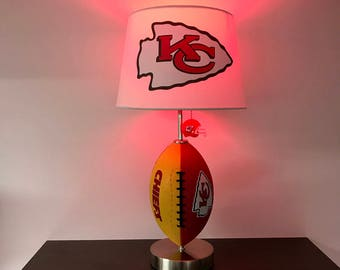 Gentil Kansas City Chiefs Football Lamp, NFL, Man Cave, Sports Lamp, Kids Night  Light, Table Lamp, Chiefs, KC