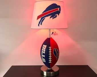 NFL, Buffalo Bills Football Lamp, Man Cave, Sports Lamp, Night Light, Table  Lamp, Kids Light