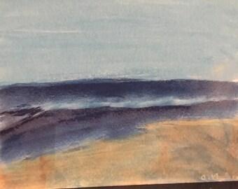 Beach scene-pastel on sketch paper