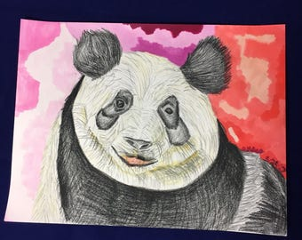 Panda days-colored pencil and copic marker on sketch paper