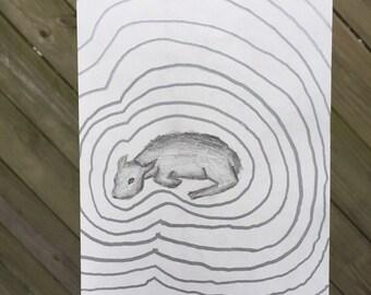 3rd lamb-graphite on sketch paper
