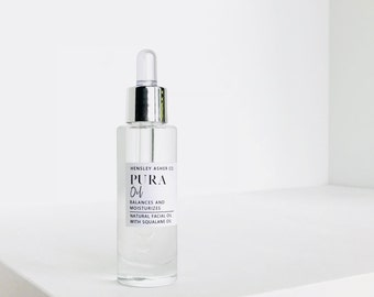 Pura Facial Oil- Natural skincare- squalane oil- fragrance free- all skin types- anti-aging