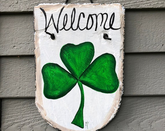 Hand Painted Irish Slate sign, Irish Sign, Irish welcome sign, Welcome plaque, Irish decor, St. Patricks Day decor, painted slate