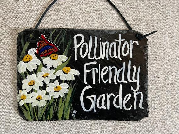 Garden sign, Slate sign for garden, personalized garden sign, painted slate, garden decor, slate sign, outdoor sign, sign for garden