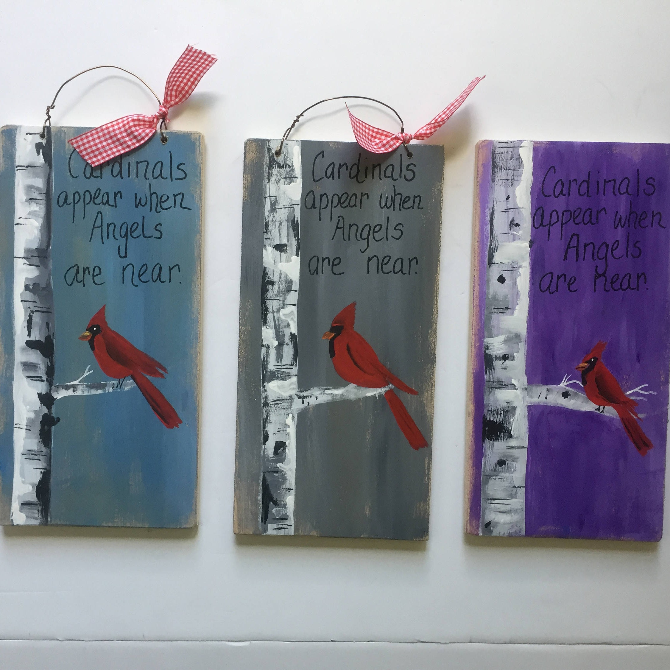 cardinals appear when angels are near personalized sympathy gift