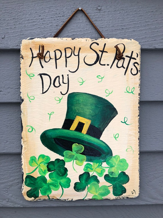 St Patricks Day Decor, St. Patricks Day Slate door hanging, St Patricks decor, Irish decor, St Patricks Day decorations, Irish Welcome sign