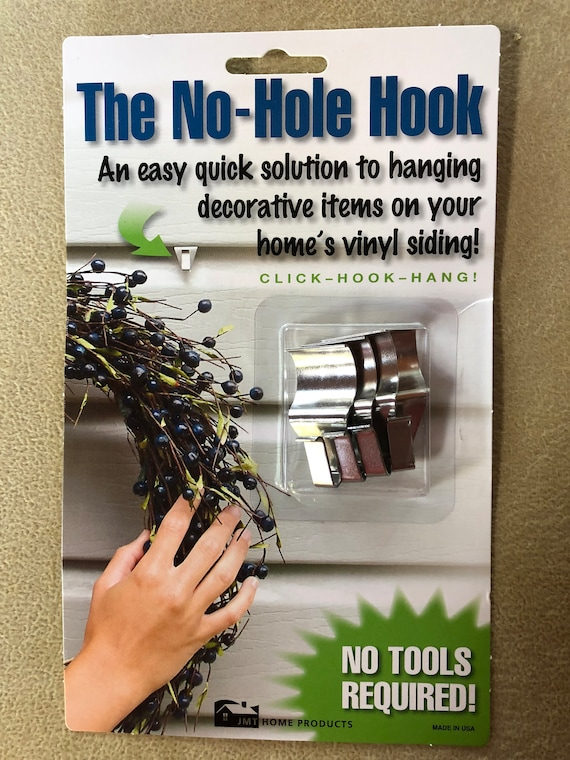 No Hole Hook for hanging items on vinyl siding. Hooks for vinyl siding, Hook for hanging slate, Hooks, Hanger, No hole hanger, slate hanger