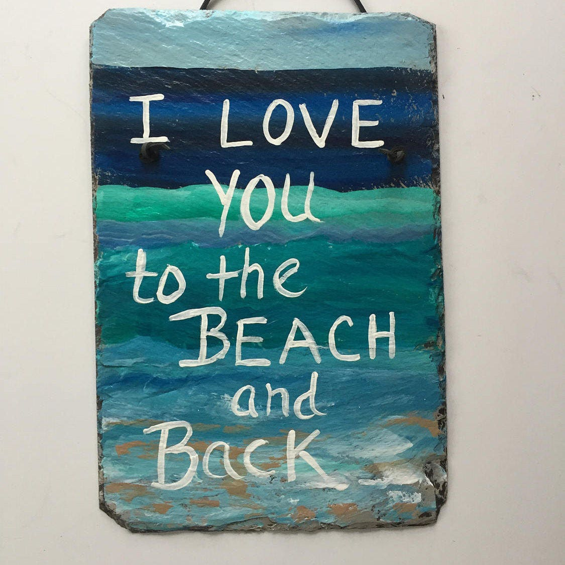 Beach Signs, Beach Lovers sign, I Love you to the Beach & Back ...