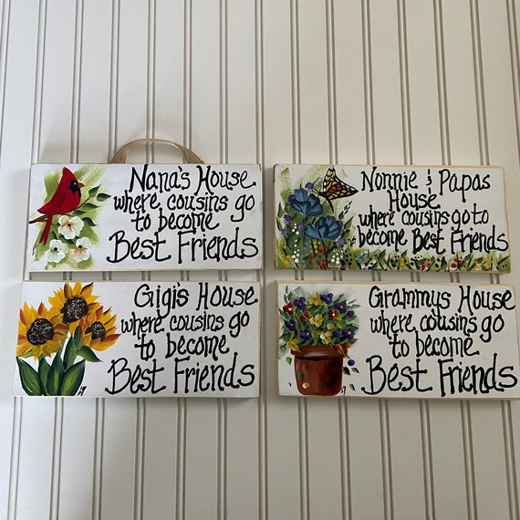 Personalized grandparents sign, Painted nana sign, Gift for grandma, wood sign, painted wood sign, grandparents sign, nana sign