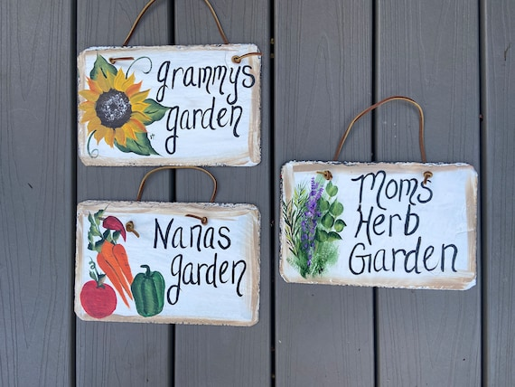 Hand Painted Slate Garden Signs, Personalized garden signs, slate garden signs, Slate plaques, painted slate, gift for mom, garden decor