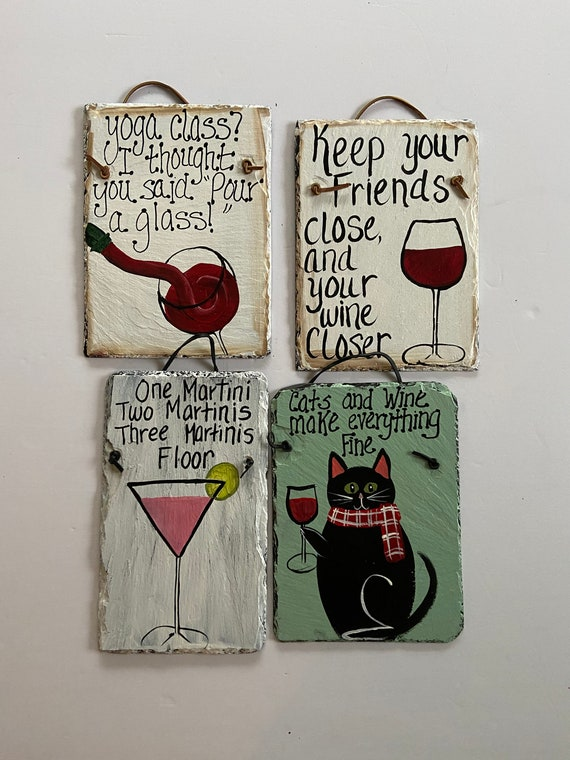 Gift for girlfriends, Painted slate plaque, slate sign, drinking sign, Bar decor, Girlfriend gift, Funny signs, painted slate, Wine signs