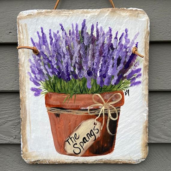 Spring Slate Sign, Summer slate sign, Slate Garden sign, door decor, Spring decor, Floral welcome plaque, door hanger, Slate welcome sign