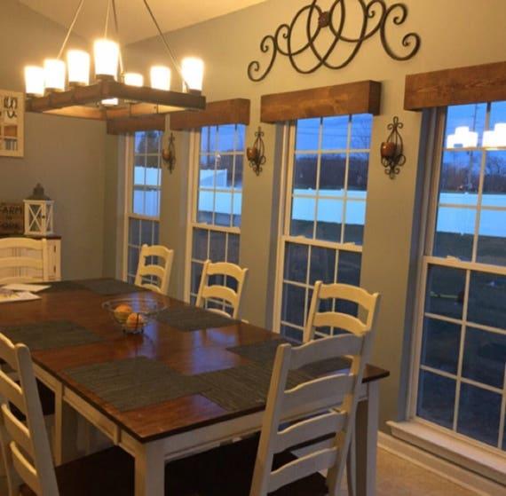 Custom Made Window Valance Rustic Wood Curtain Valance