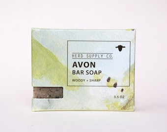 Avon: Sheep's Milk Soap, Coffee Exfoliating Unisex Bar Soap, Gifts for Him, Woodsy Soap, Essential Oil Scented Soap, Formerly Cedarwood Fir