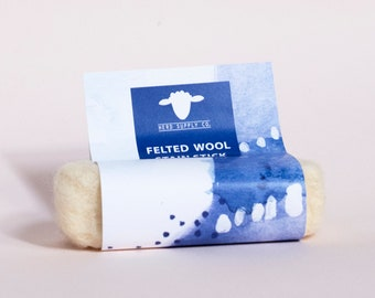Unscented Felted Wool Laundry Bar Soap, Felted Soap, Stain Remover, Housewarming Gift, Hand Wash, Wash and Stain Bar, Travel Soap