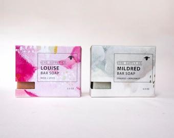 West All Natural Soap Set—Sheep Milk Bar Soap, Gifts for Her, Best Seller, Top Seller, Rose Cardamom Soap, Orange Bergamot Soap, Citrus Soap