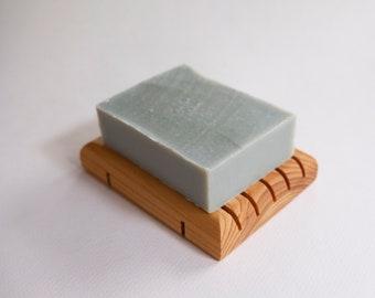 Sheep's Milk Soap and Tray Set: Handmade Soap, Facial Soap, Sensitive Skin, Oily Skin, Combination Skin, Cleansing Bar Soap, Soap Deck Set