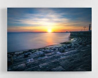 Portsmouth Sunset Canvas - Southsea Sunset Canvas, Portsmouth Canvas, Photography Art, Portsmouth Wall Art, Southsea Canvas