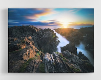 Mystic Sunset Canvas - Devon Sunset Canvas, Woolacombe Canvas, Woolacombe Art, Woolacombe Wall Art, Devon on Canvas, North Devon Canvas