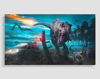 Jurassic Park Wall Art - Jurassic Park Canvas, Dinosaur Canvas, Dinosaur Canvas, Dinosaur Art, Dinosaur Wall Art, Jurassic Art, Kids Room