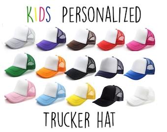 OASCUVER Kid Printing Sharks Flag Hat Toddler Mesh Trucker Boys Girls Adjustable Snapback Baseball Cap