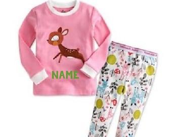 926f76245b KIDS Personalized Reindeer Christmas Pajamas