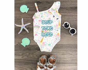 1972b34d22ac6 GIRLS CUSTOM One Piece Unicorn Swimsuit|Personalized Gold Horn UNICORN Suit| Unicorn Swimming Suit|Toddler Bathing Suit|Custom Swim Suit