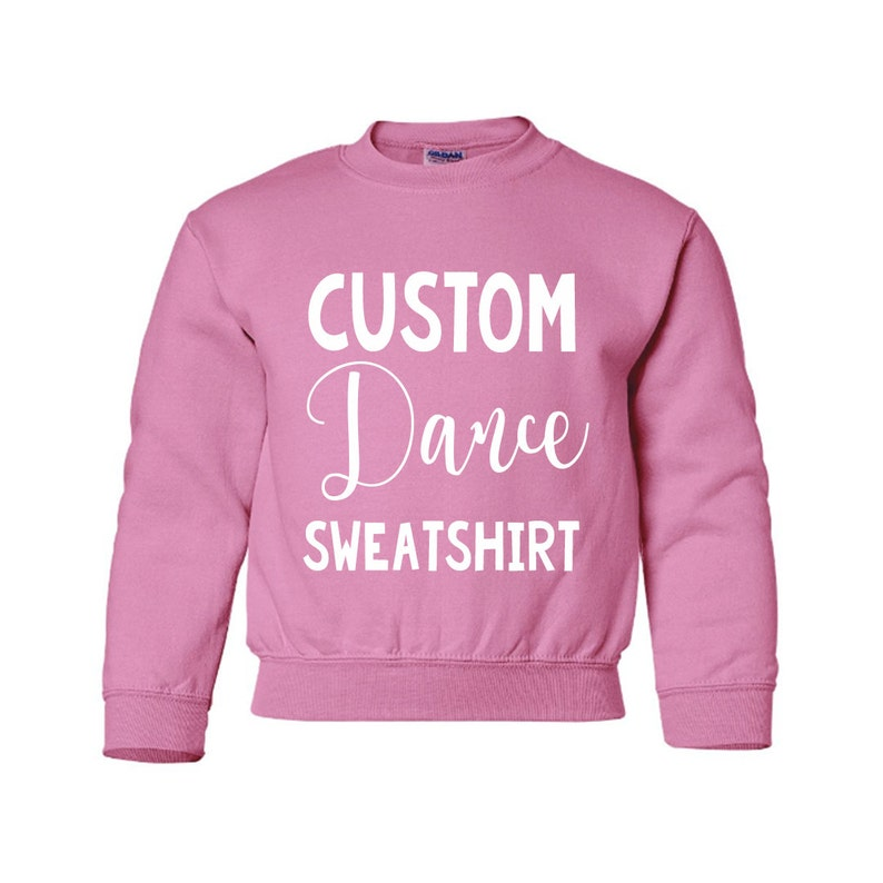621ade835 KIDS personalized DANCE crewneck sweatshirtCUSTOM Dance | Etsy