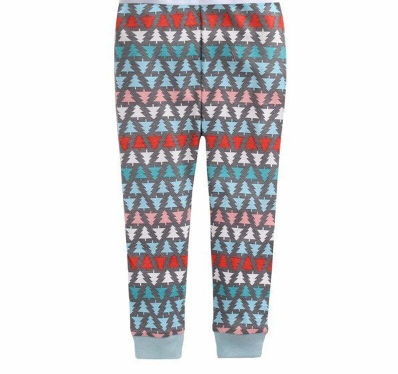 KIDS Personalized Polar Bear Pajamas|Bear and Tree Christmas Eve Pajama|Kids CUSTOM Text PJs|Personalized Name Pajama Set|Monogram Pajamas