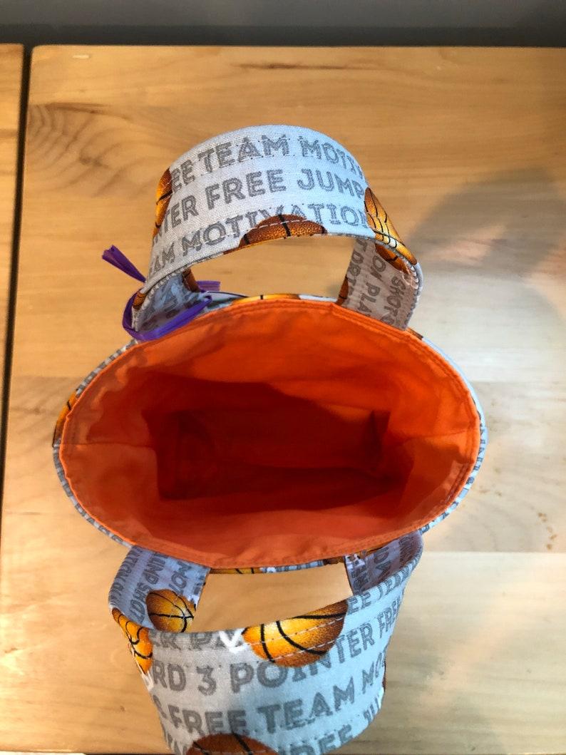 Mini Tote Bag--Basketball