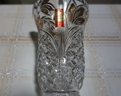 Anna Hutte Bleikristall 24 Lead Crystal Multi-Faceted Geometries Vase 6 quot Tall