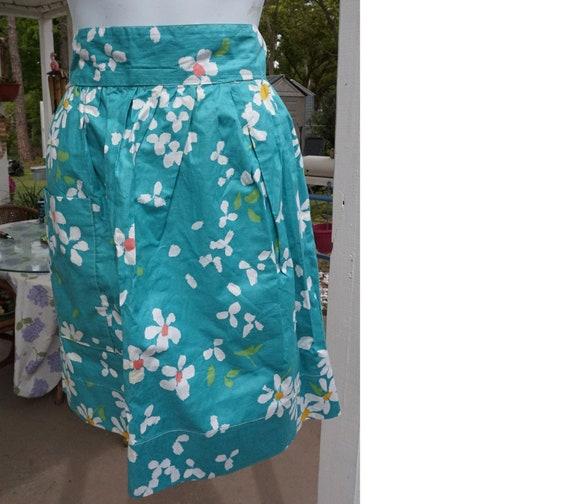 Floral Apron // Apron With Pockets // Half Apron /