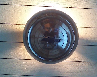 Light Fixture -Ceiling Mount or Wall Sconce Light-1957 Chevrolet Polished Hubcap Light Fixture