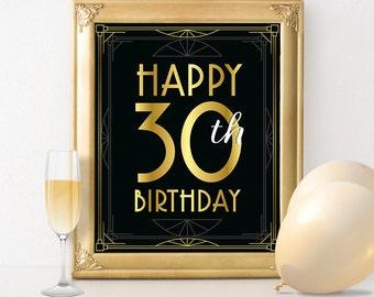 40th birthday decoration happy 40th birthday sign 40 year etsy