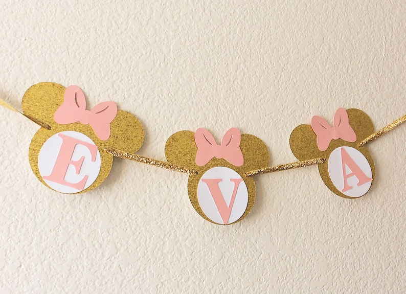 gold glitter-smash cake 3-5 business days before is shipped photo prop birthday cake Pink and gold Minnie Mouse cake topper-Minnie mouse