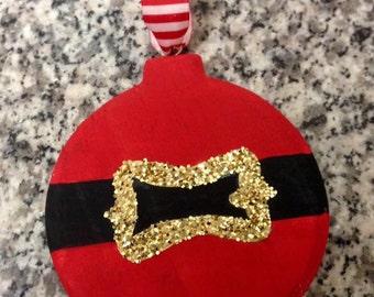 Cute Santa Belt Christmas Ornament