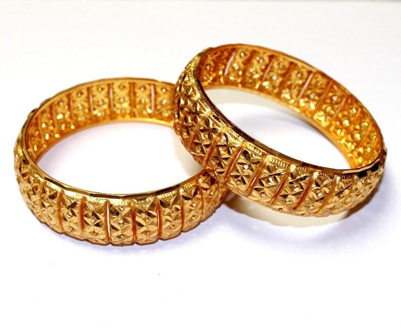 11c87e09d Designer Gold Plated Kada Set / Bridal Bangles / Indian | Etsy