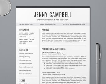 Resume Builder Etsy