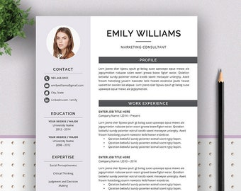 creative resume template cv template cover letter teacher and modern resume professional resume instant download ms word resume emily