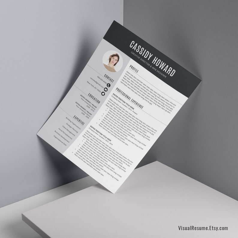 2019 Creative Resume Template CV Template Digital Instant | Etsy